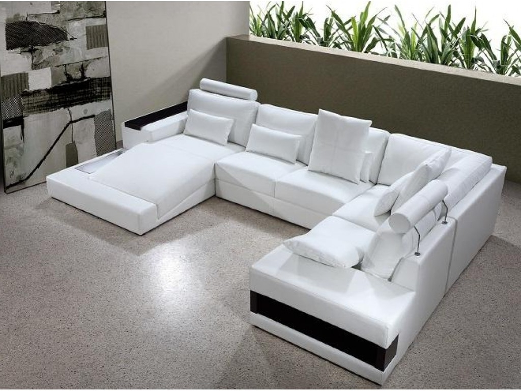 Sofa : Fabric Sectional Leather Sectional U Shaped Sectional With With Trendy U Shaped Leather Sectional Sofas (View 14 of 15)
