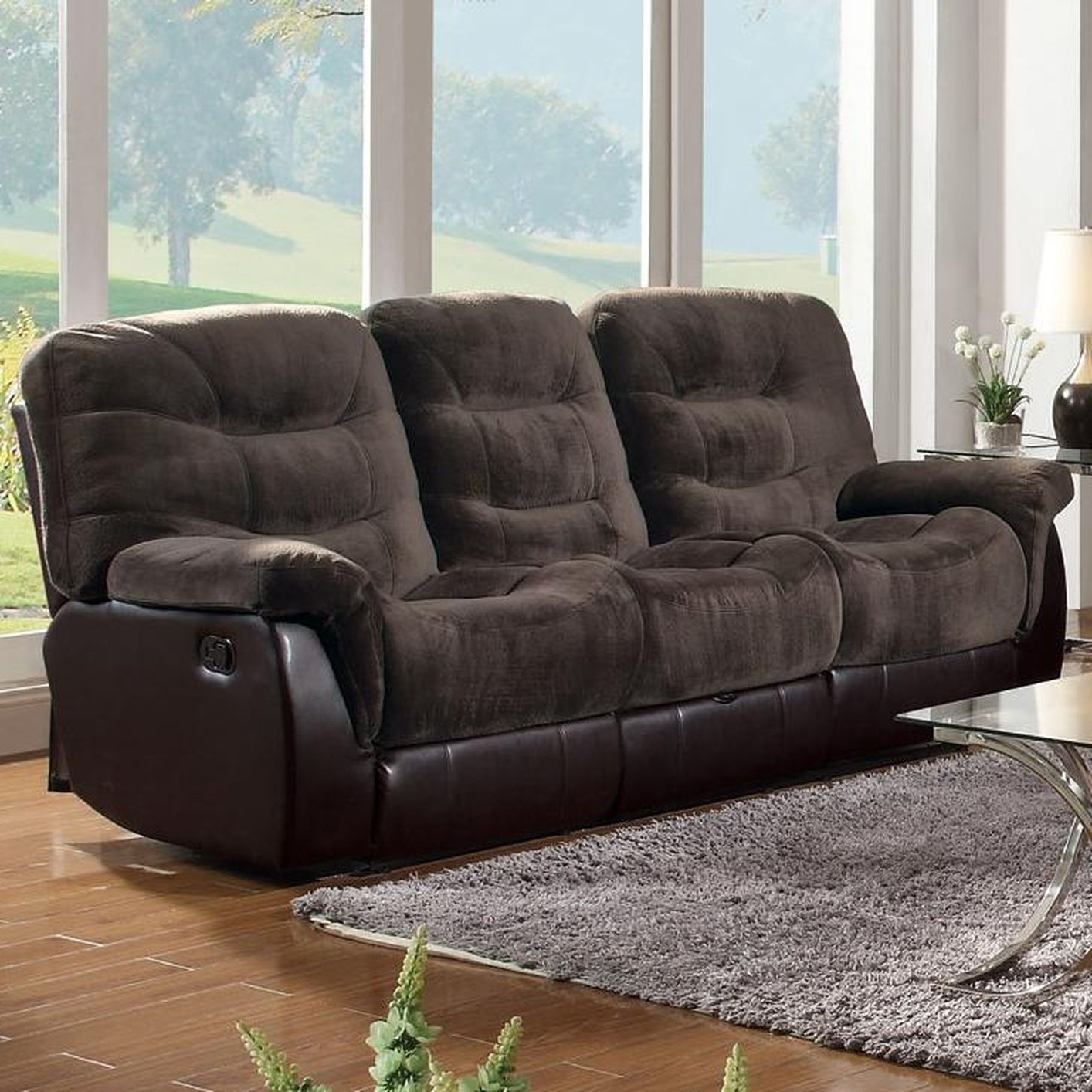 Sofa : Fabric Sectional Sofa With Power Recliner Fabric Recliner Within Well Known Jedd Fabric Reclining Sectional Sofas (View 2 of 15)