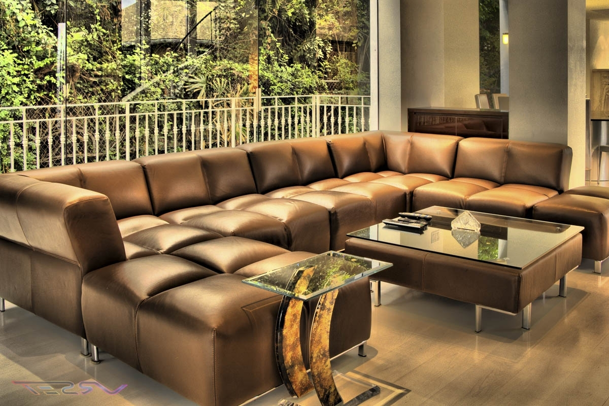 Sofa Fascinating Large Sectional Modern Sofas Within Leather 17 For Most Recently Released Oversized Sectionals With Chaise (View 9 of 15)