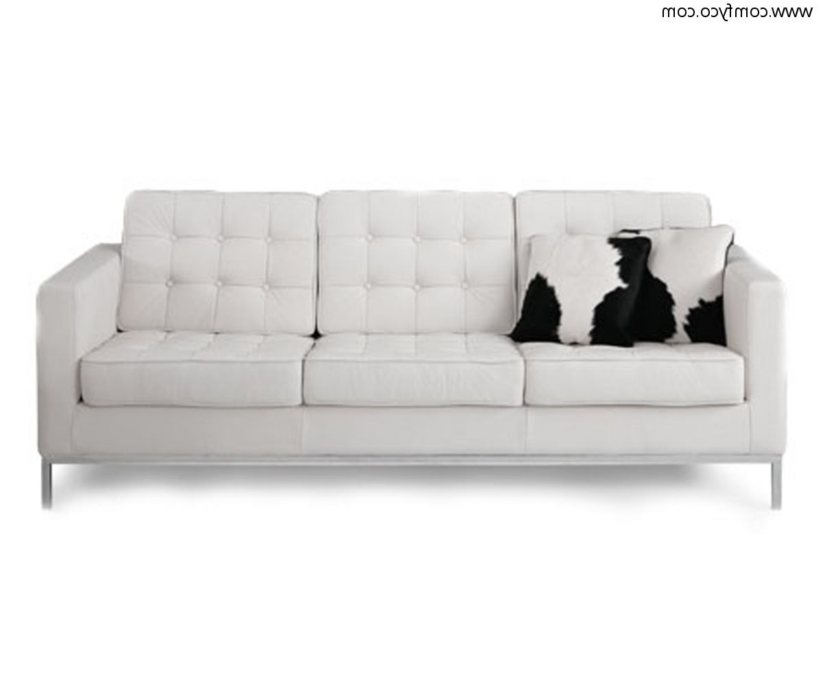 Sofa: Interesting Leather White Sofa Modern Leather Furniture Intended For Well Liked White Leather Sofas (View 11 of 15)