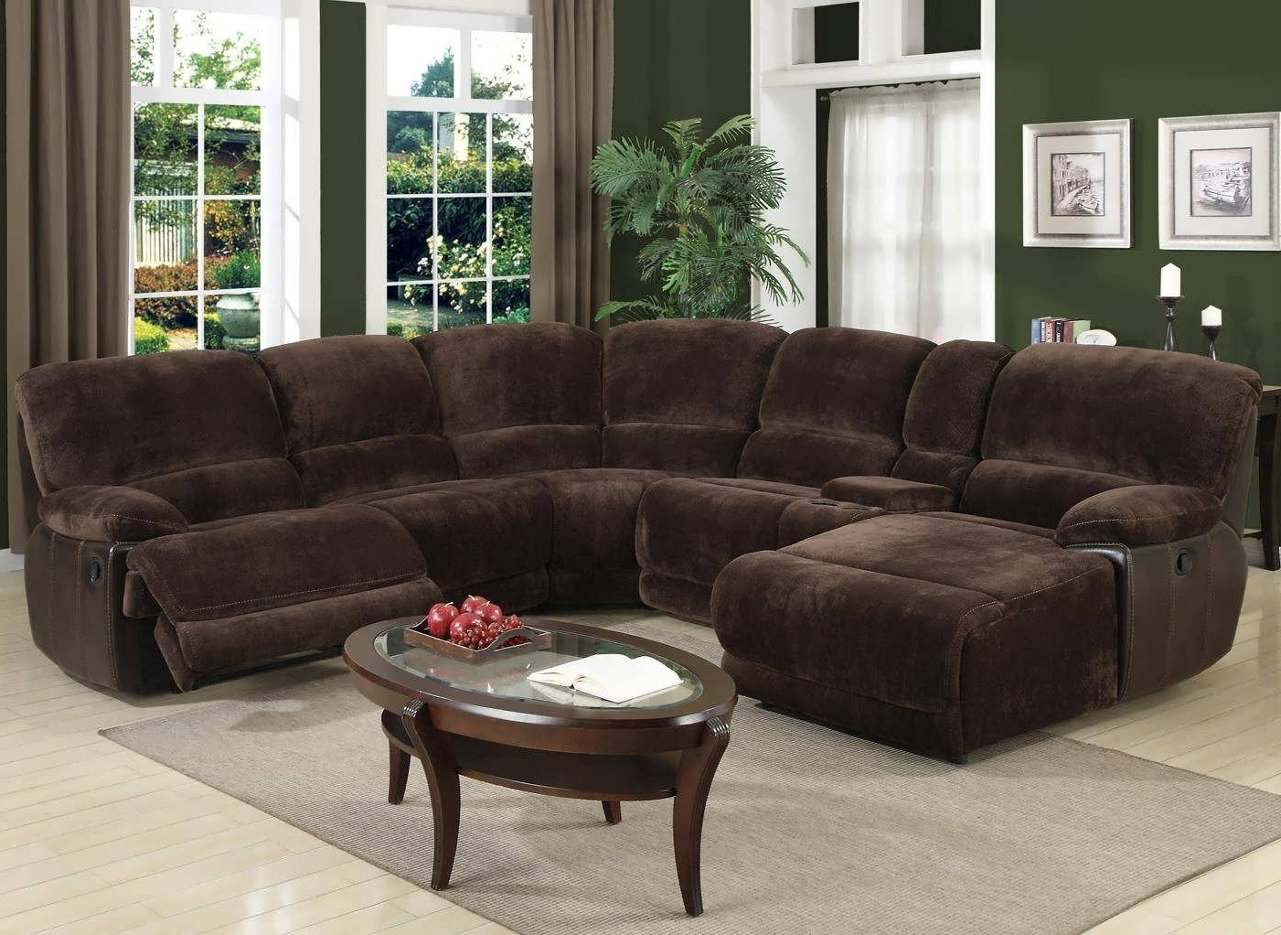 Sofa : Leather Sectional Sofa Reclining Sectional Modular Within Favorite Sectional Sofas With Chaise And Recliner (View 3 of 15)