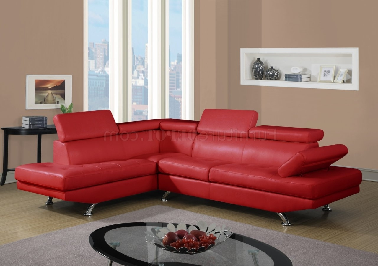 Sofa : Leather Sectionals With Recliners Modern Sofas Leather Sofa Within Well Known Small Red Leather Sectional Sofas (View 13 of 15)