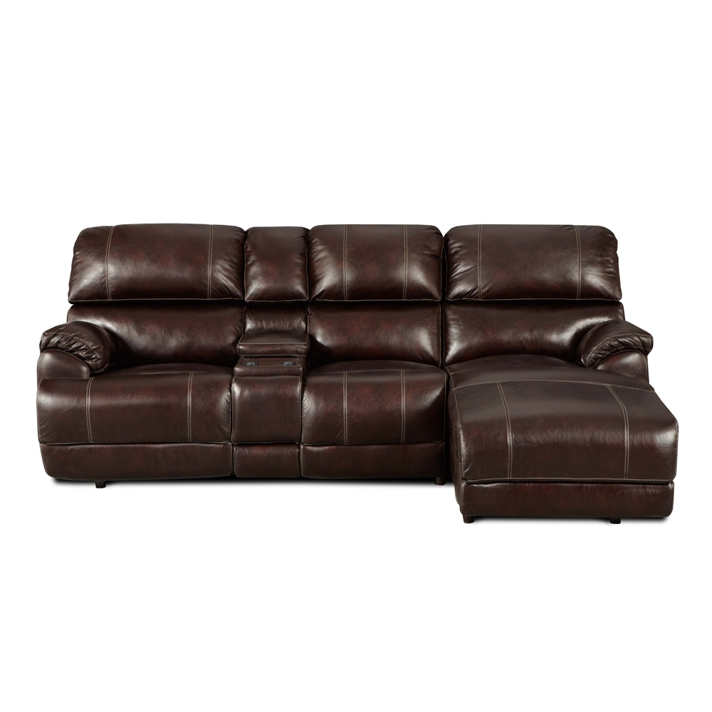 Sofa: Leather Sofa With Chaise Lounge (View 8 of 15)