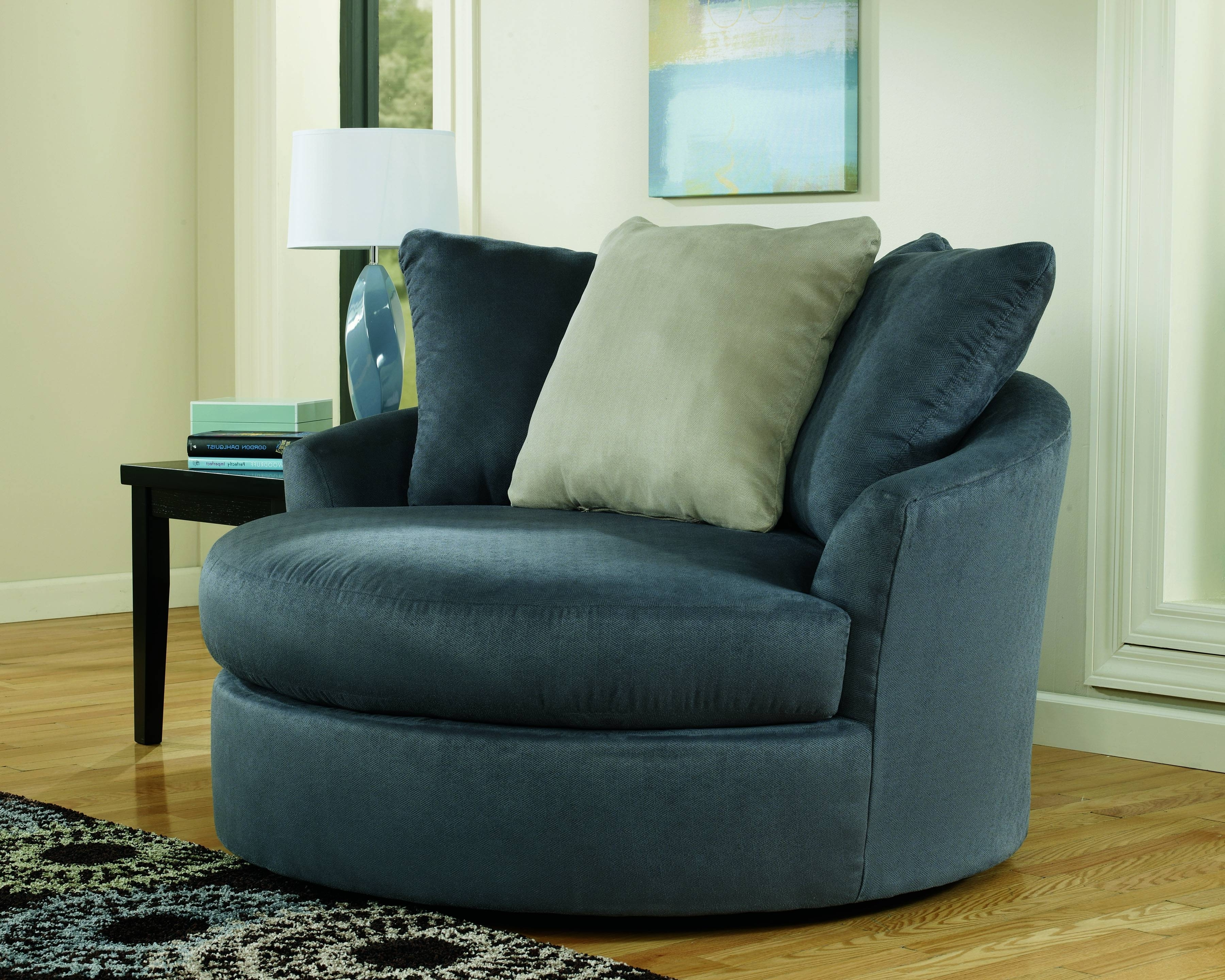 Sofa : Luxury Round Swivel Sofa Chair Latest Large With Crescent Inside Most Popular Round Swivel Sofa Chairs (View 7 of 15)