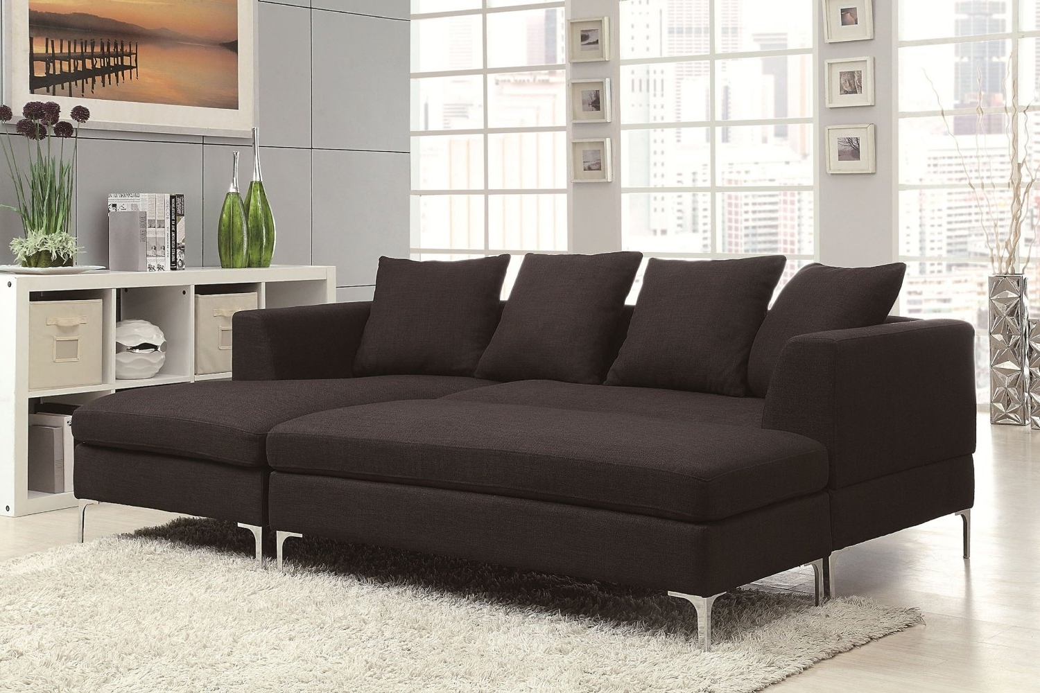 Sofa : Modular Sofa Reclining Sectional With Chaise Small Regarding 2018 Sectional Chaise Sofas (View 5 of 15)