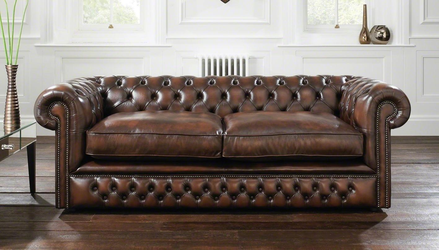 Sofa : Old Fashioned Leather Sofa Old Fashioned Leather Sofa Regarding 2017 Old Fashioned Sofas (View 14 of 15)