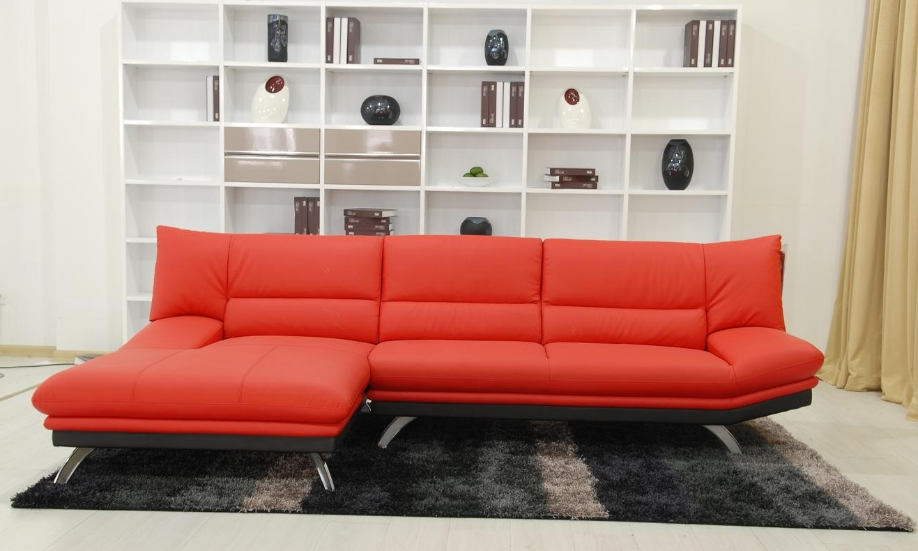 Sofa : Red Couch Sectional Red Sectional Sofas Red Leather For 2017 Red Leather Sectional Couches (View 13 of 15)
