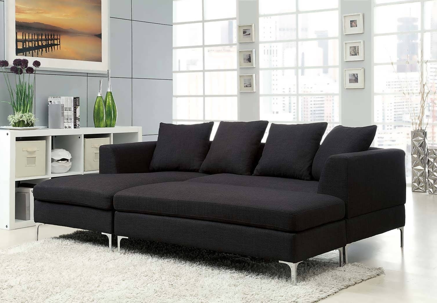 Sofa : Sectional Navy Blue Sectional Grey Leather Sectional Grey In Popular Chaise Sofa Sectionals (View 4 of 15)