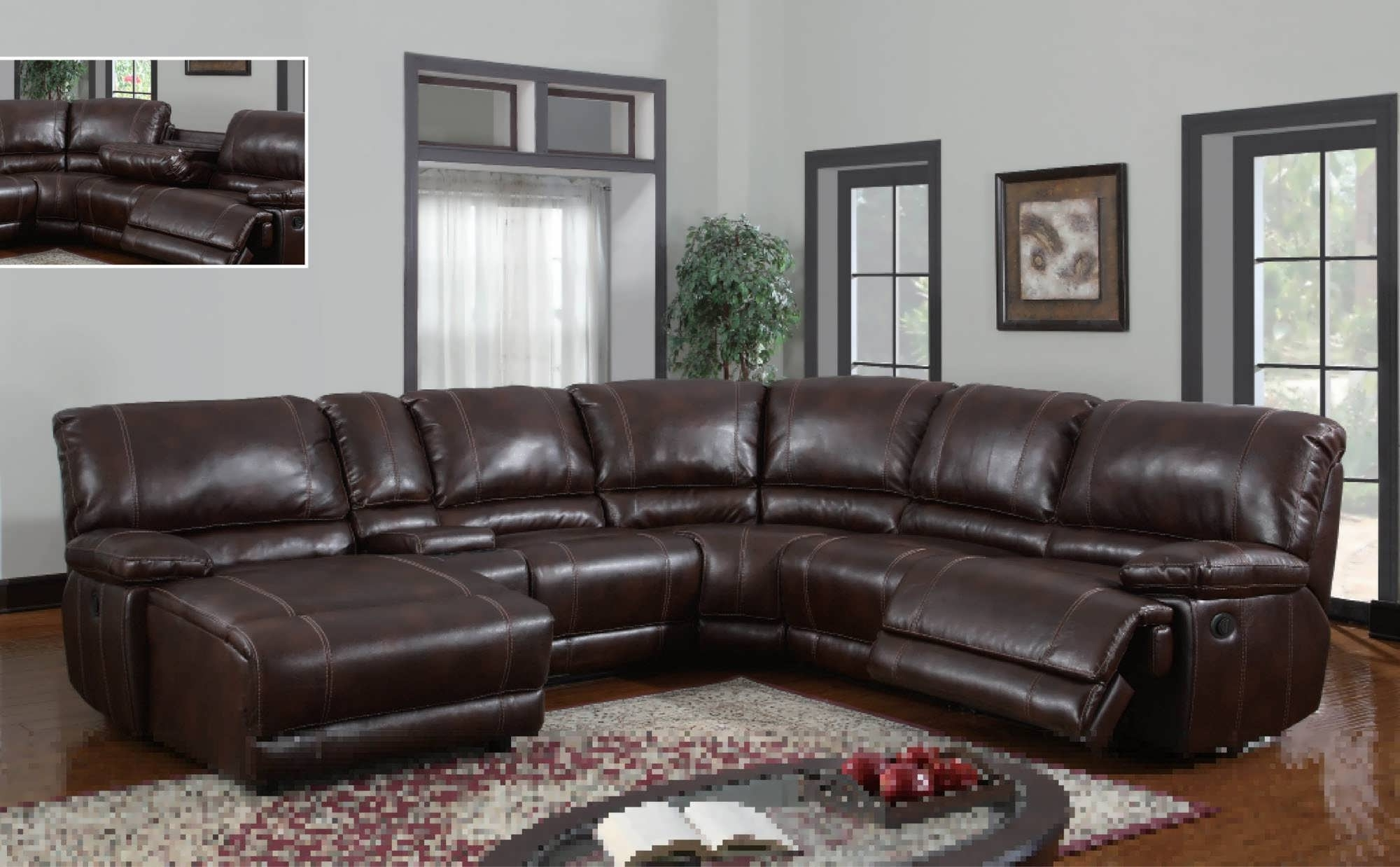Sofa : Small Leather Sectional Modern Sectional Living Room In Fashionable Reclining Sectionals With Chaise (View 13 of 15)