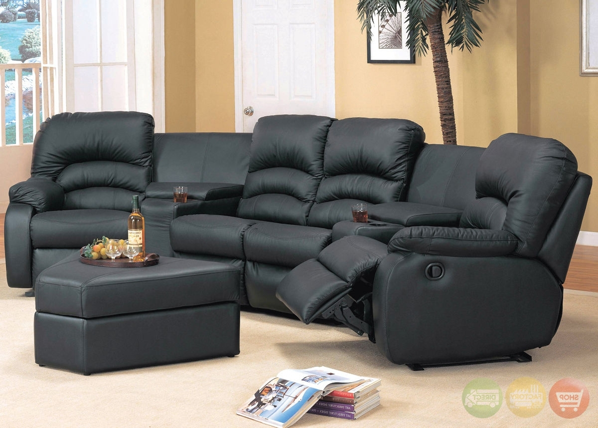 Sofa : Small Leather Sectional Sofa Small Scale Sectional Couch in Recent Sectional Sofas With Recliners For Small Spaces