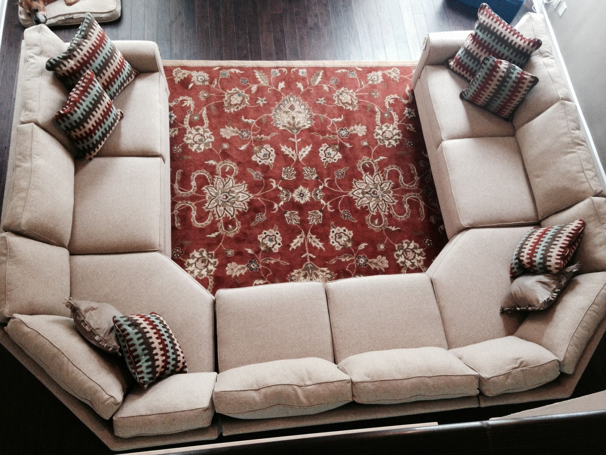 Sofa : U Shaped Leather Sofa Small Sectional Sofa With Recliner U Inside Widely Used Reclining U Shaped Sectionals (View 3 of 15)