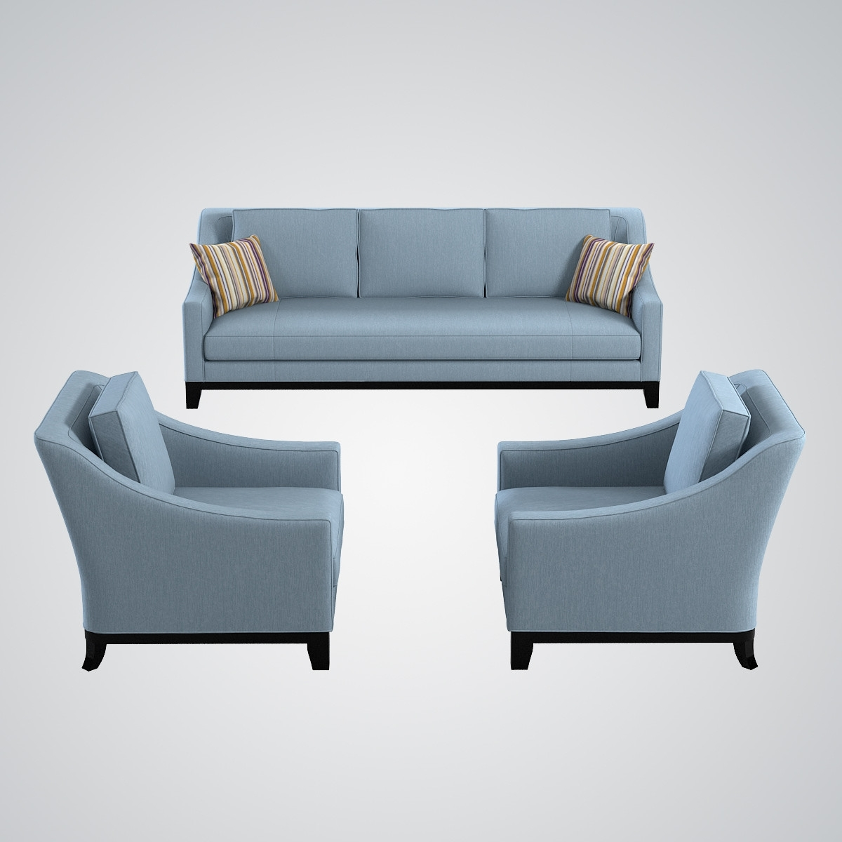 Sofa With Chairs For Recent Sofa And Chair Set – Modern Chairs Quality Interior  (View 10 of 15)