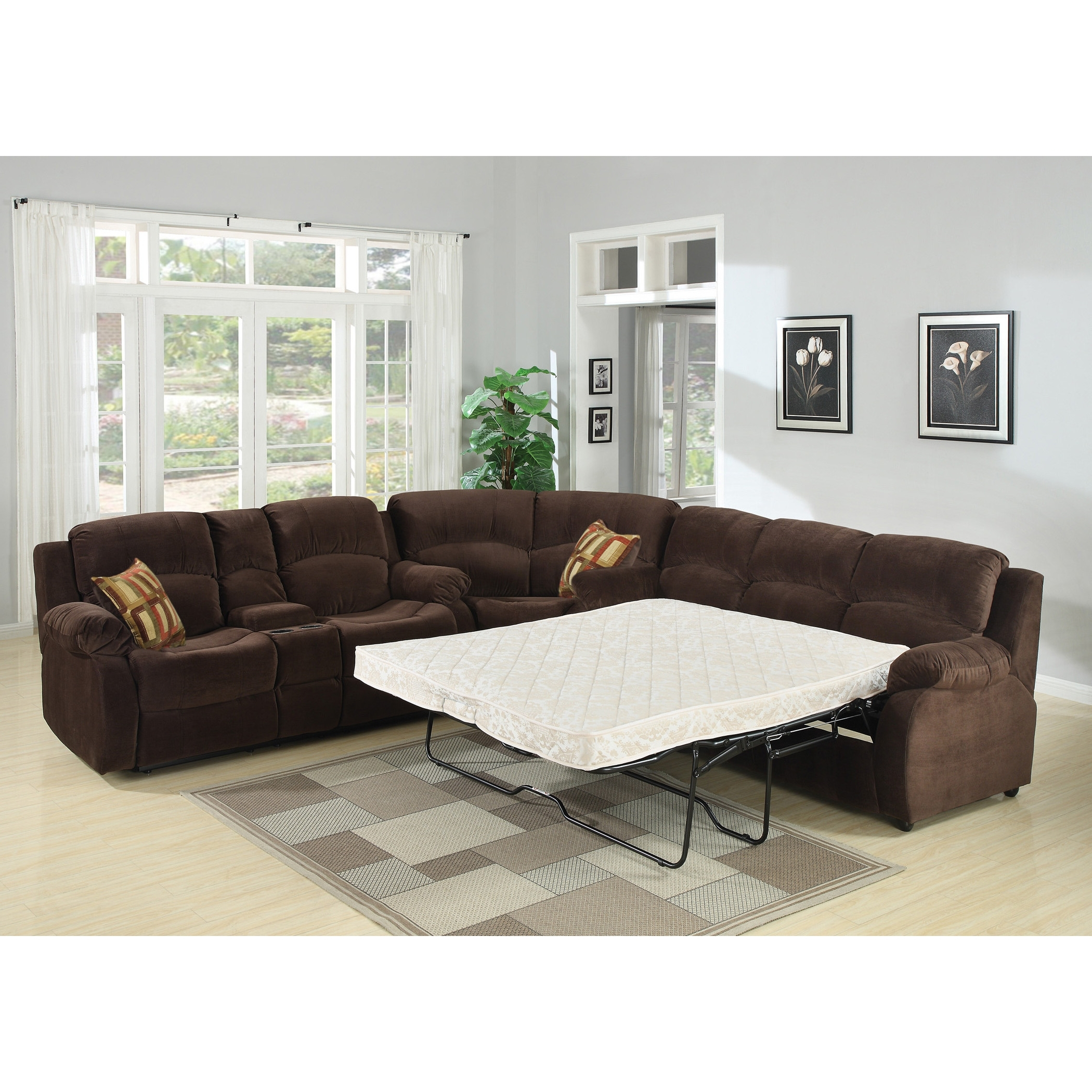 Sofa : Wonderful Sectional Sofa Queen Bed Russ Sectional Sofa Regarding Most Current Sectional Sofas With Queen Size Sleeper (View 11 of 15)