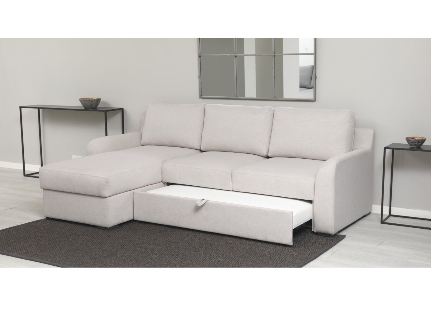 Sofabeds With Chaise With Regard To Popular Abbey Sofabed With Chaise & Storage – Aflair For Home (View 8 of 15)