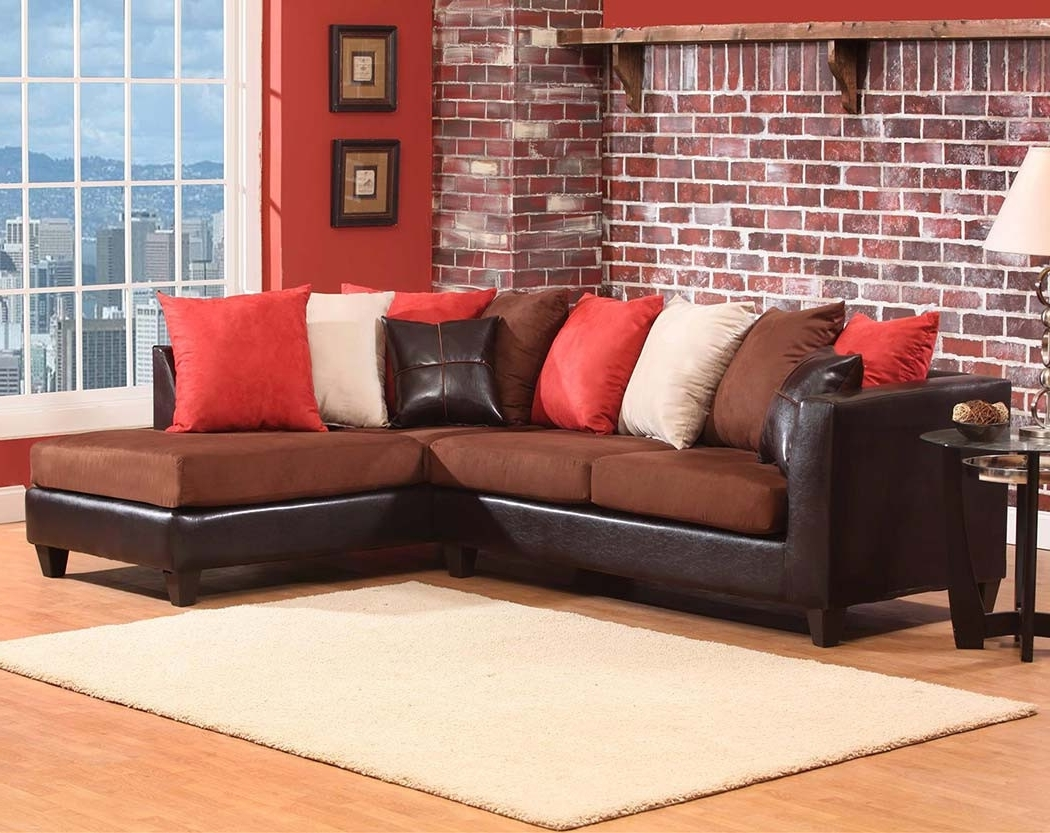 Sofas: Luxury Your Living Room Sofas Design With Red Sectional Inside Widely Used Brown Sectionals With Chaise (View 11 of 15)