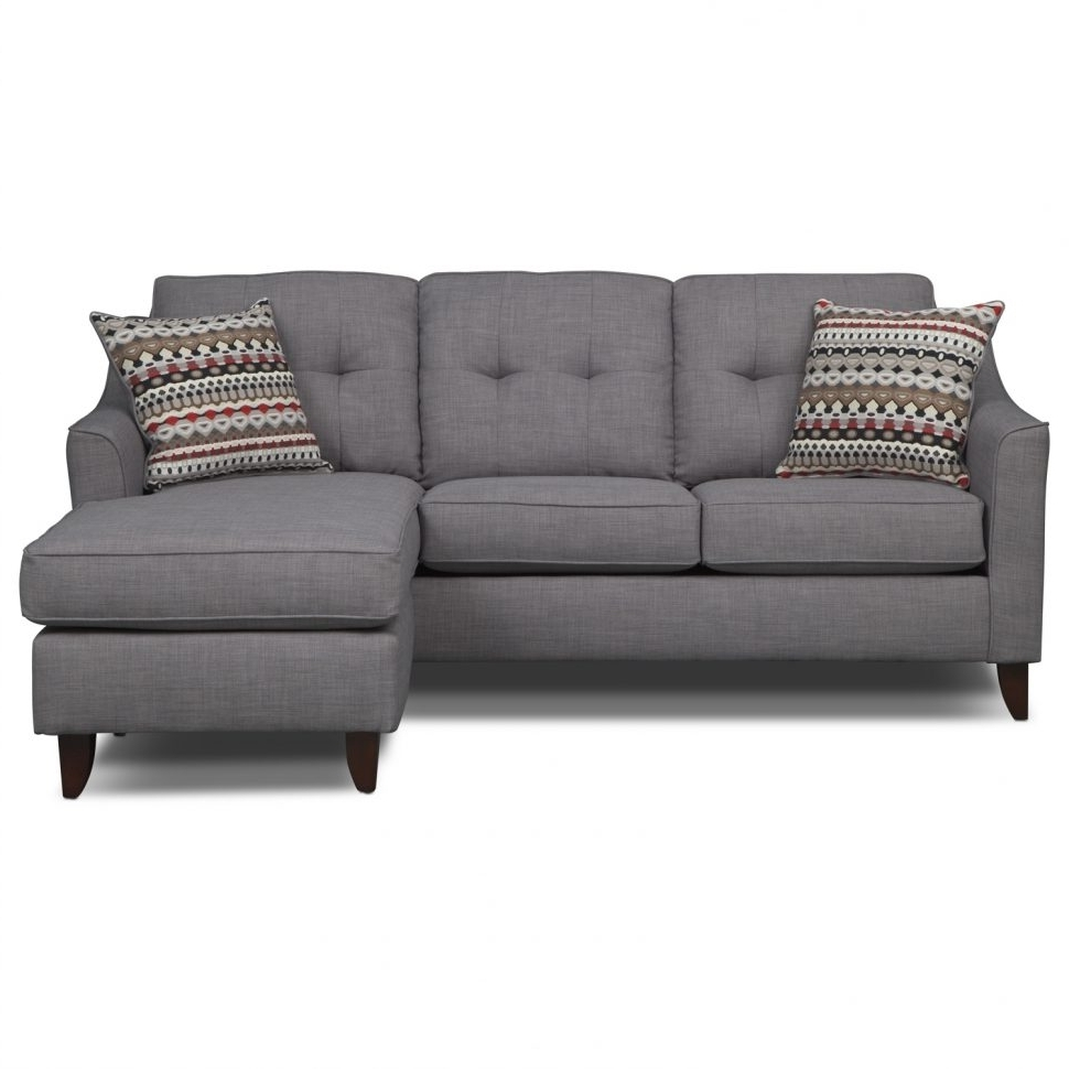 Sofas : Sectional Couch Gray Sectional Sofa Double Chaise Pertaining To 2017 Small Sofas With Chaise (View 13 of 15)