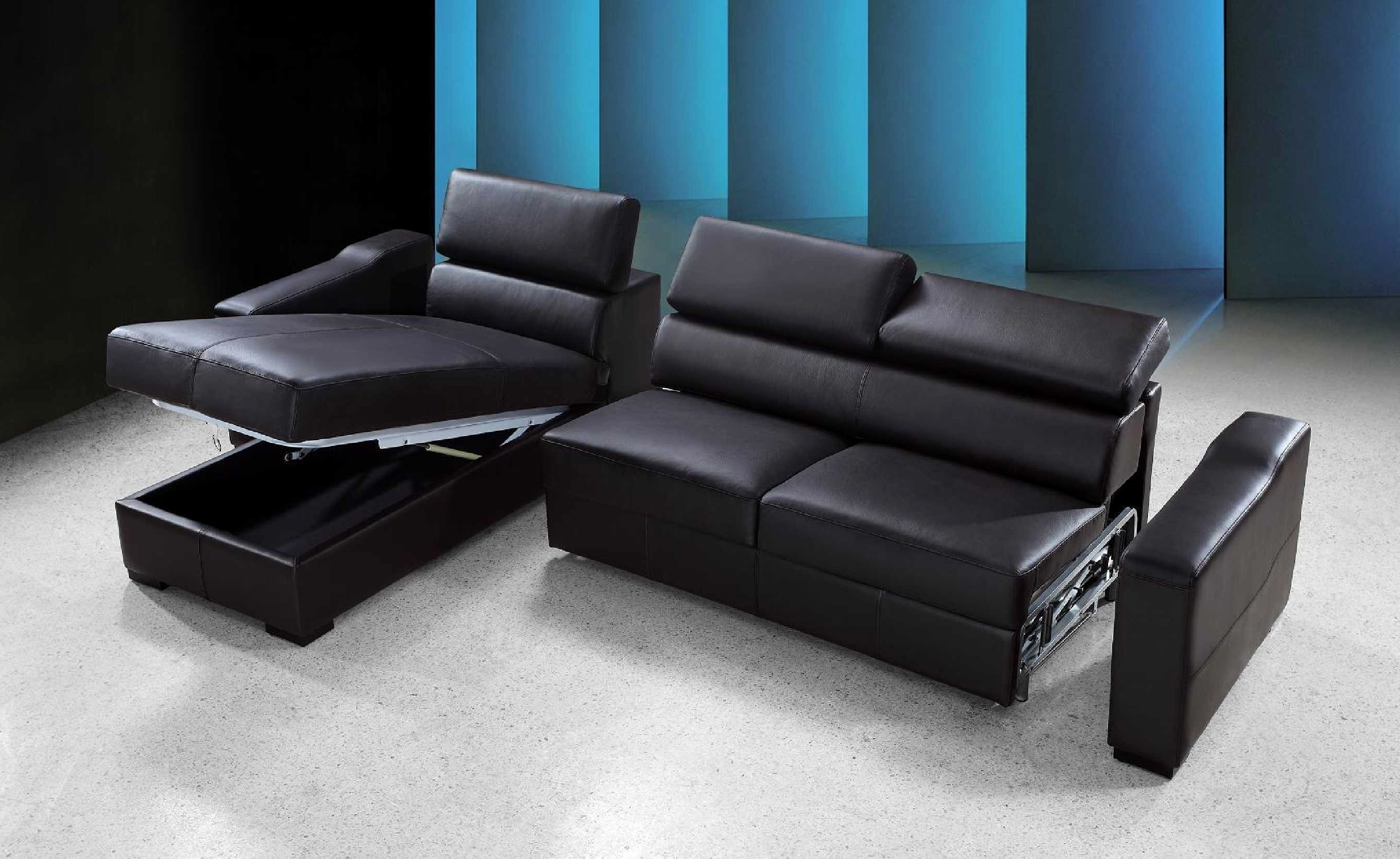 Sofas : Sofa Deals Broyhill Sofa Recliner Sofa Blue Leather Sofa L Intended For Popular Leather Sofas With Storage (View 8 of 15)