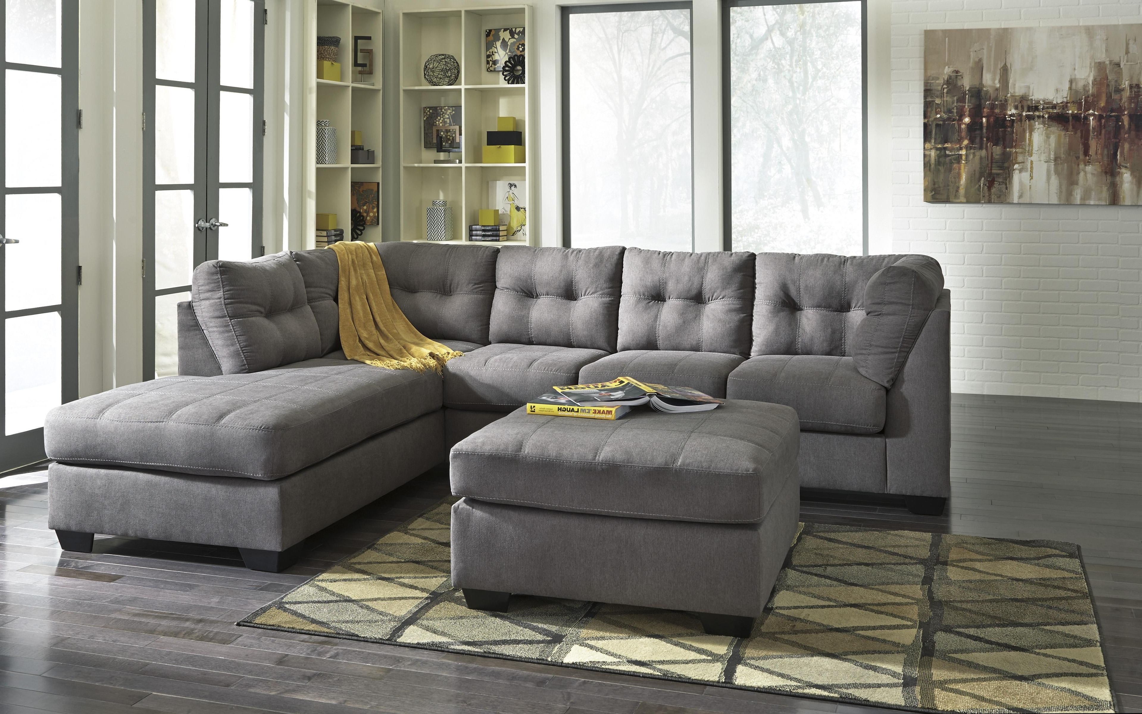 Sofas With Chaise And Ottoman For Most Current Benchcraft Maier – Charcoal 2 Piece Sectional W/ Sleeper Sofa (View 10 of 15)