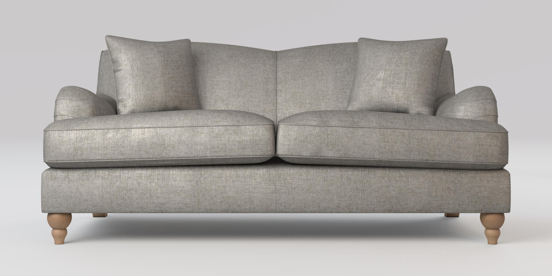 Sofas With High Backs With Regard To Current Buy Ophelia Fixed Back Medium Sofa (3 Seats) Sumptuous Velour Mid (View 9 of 15)