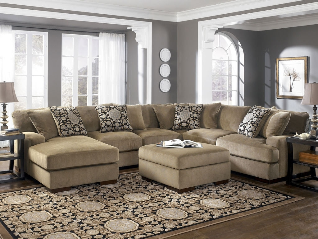 Sofas With Large Ottoman Intended For Popular Sofa : Deep Seated Sectional New Sectional Sofa With Ottoman Deep (View 12 of 15)