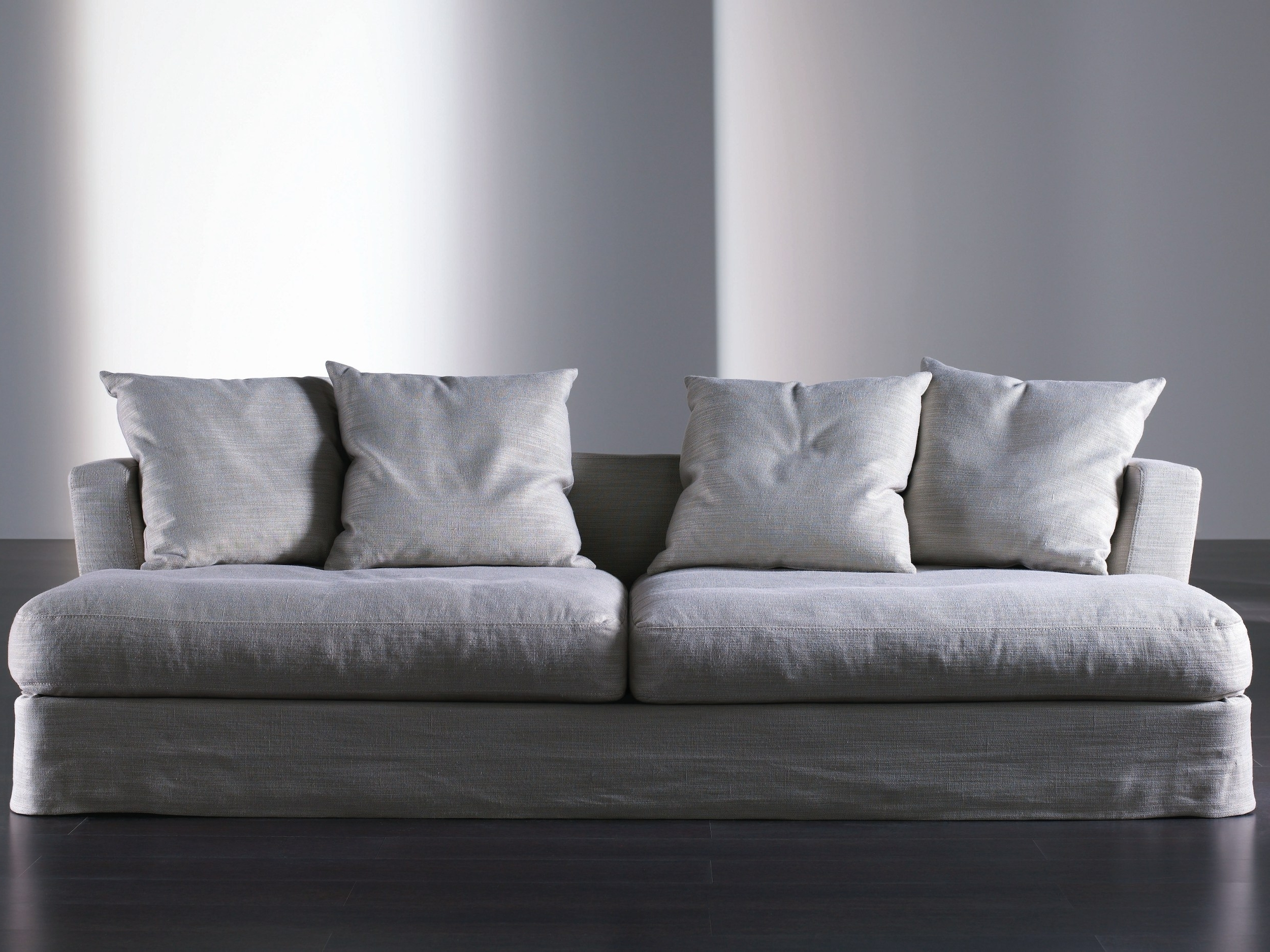 Sofas With Removable Cover Within Most Current Upholstered Sofa With Removable Cover Keaton Ghost – Meridiani (View 9 of 15)