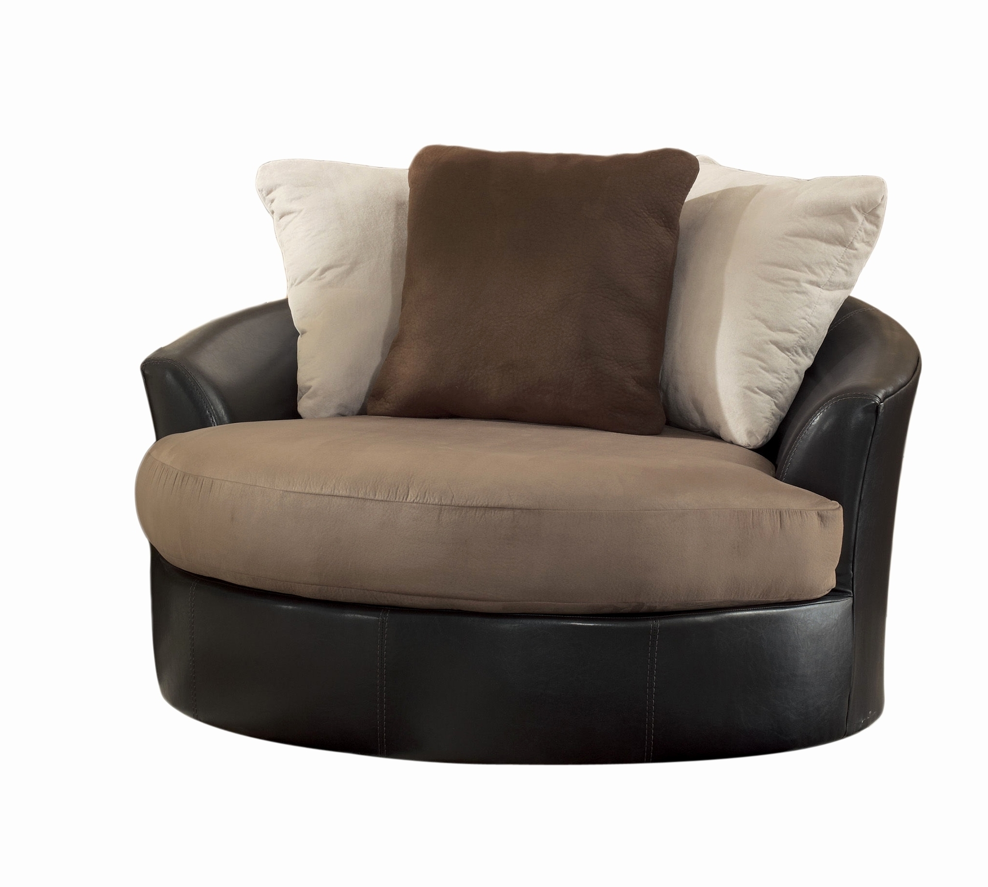 Sofas With Swivel Chair Throughout Most Recent Sofas : Armchair Big Round Swivel Chair Circle Swivel Chair Small (View 10 of 15)