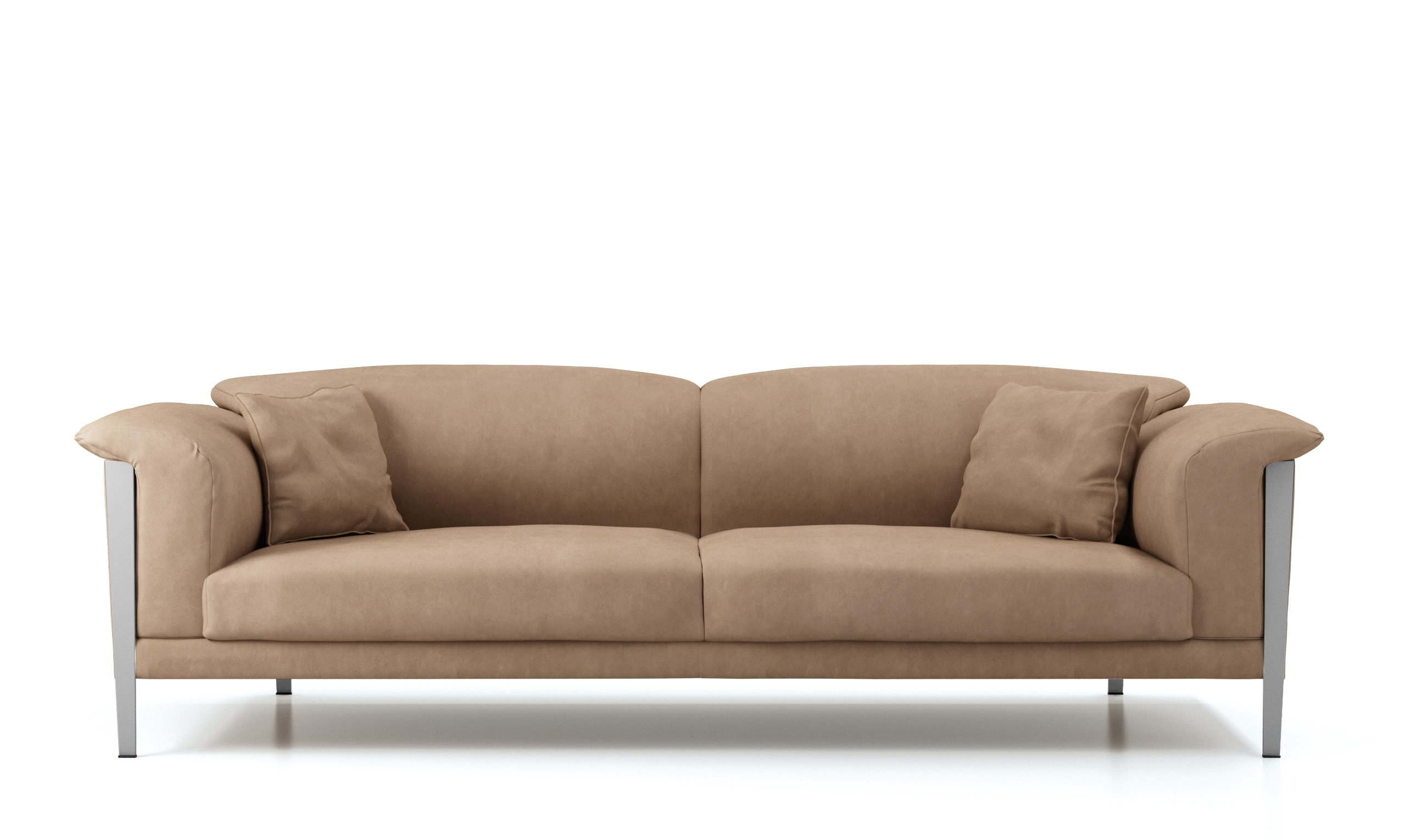 Soft Sofas For Well Known Cream Color Extra Soft Padded Leather Sofa Set Sacramento (View 4 of 15)