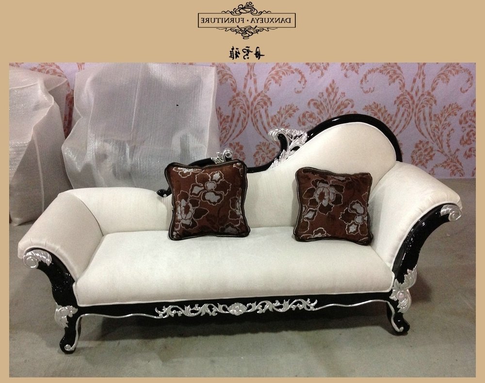 Solid Wood Frame Throne Sofa , Classical Sectional Sofa , French Within Trendy French Country Chaise Lounges (View 6 of 15)