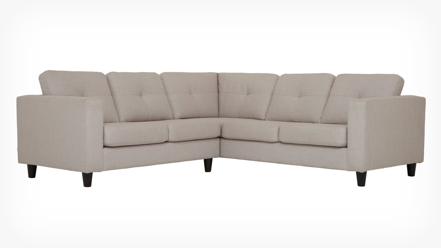 Solo 2 Piece Sectional Sofa – Fabric For Current Eq3 Sectional Sofas (View 3 of 15)