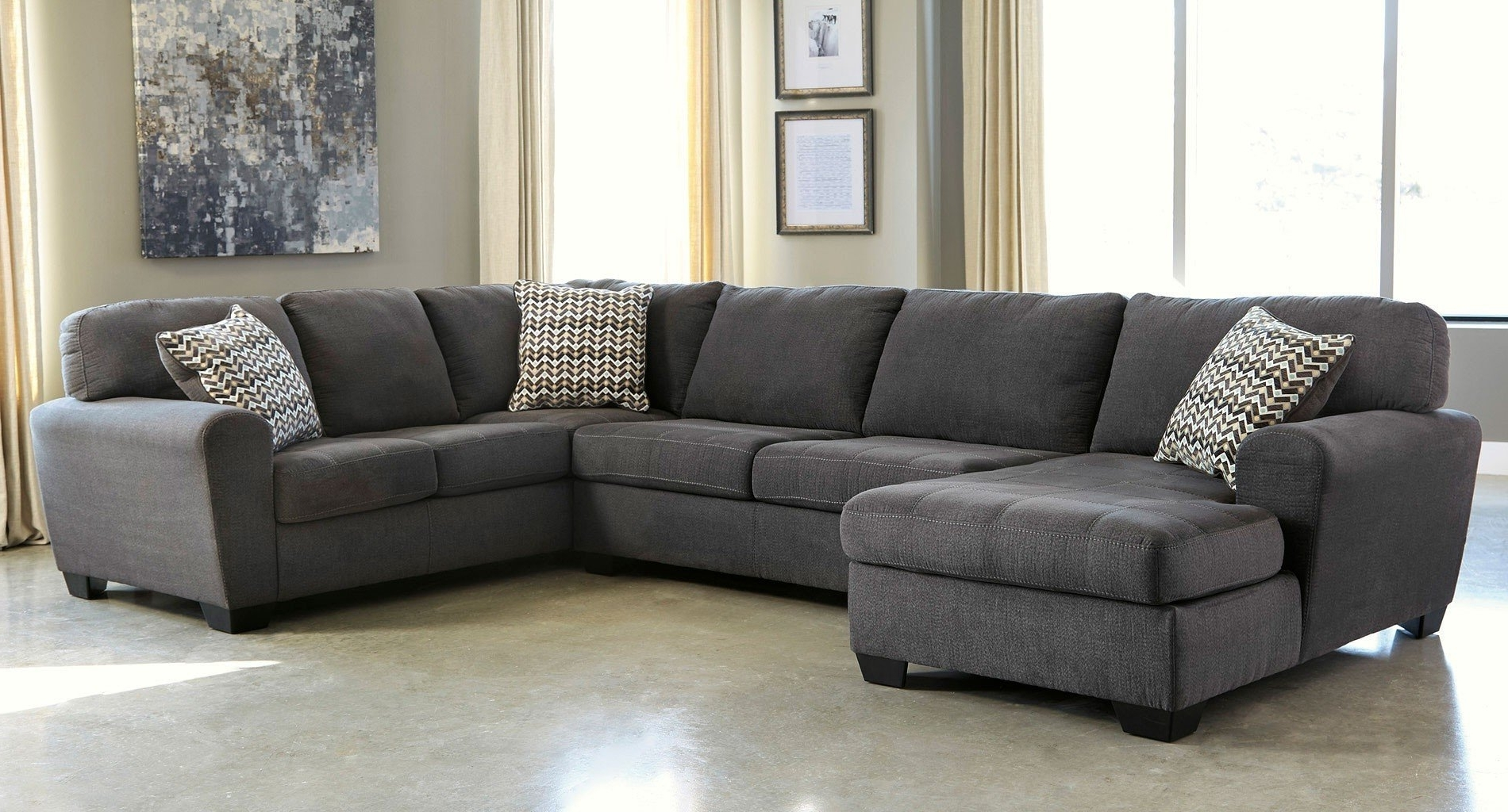 Sorenton Slate Left Facing Chaise Sectional – Sectionals – Living For Famous Right Facing Chaise Sectionals (View 13 of 15)