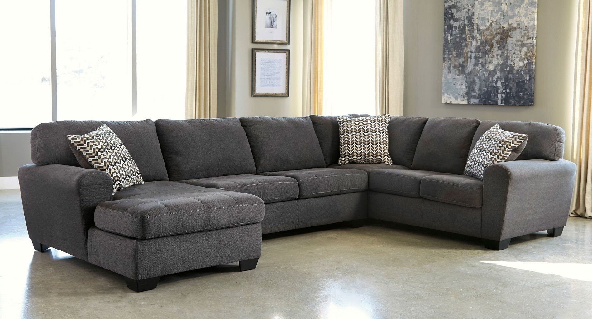 Sorenton Slate Right Facing Chaise Sectional – Sectionals – Living Within Widely Used Right Facing Chaise Sectionals (View 2 of 15)