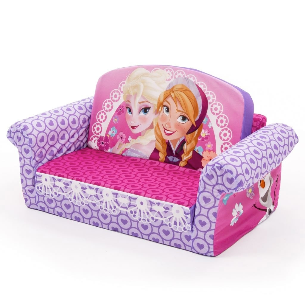 Spin Master – Marshmallow Furniture Flip Open Sofa Disney Frozen With Most Popular Disney Sofa Chairs (View 14 of 15)