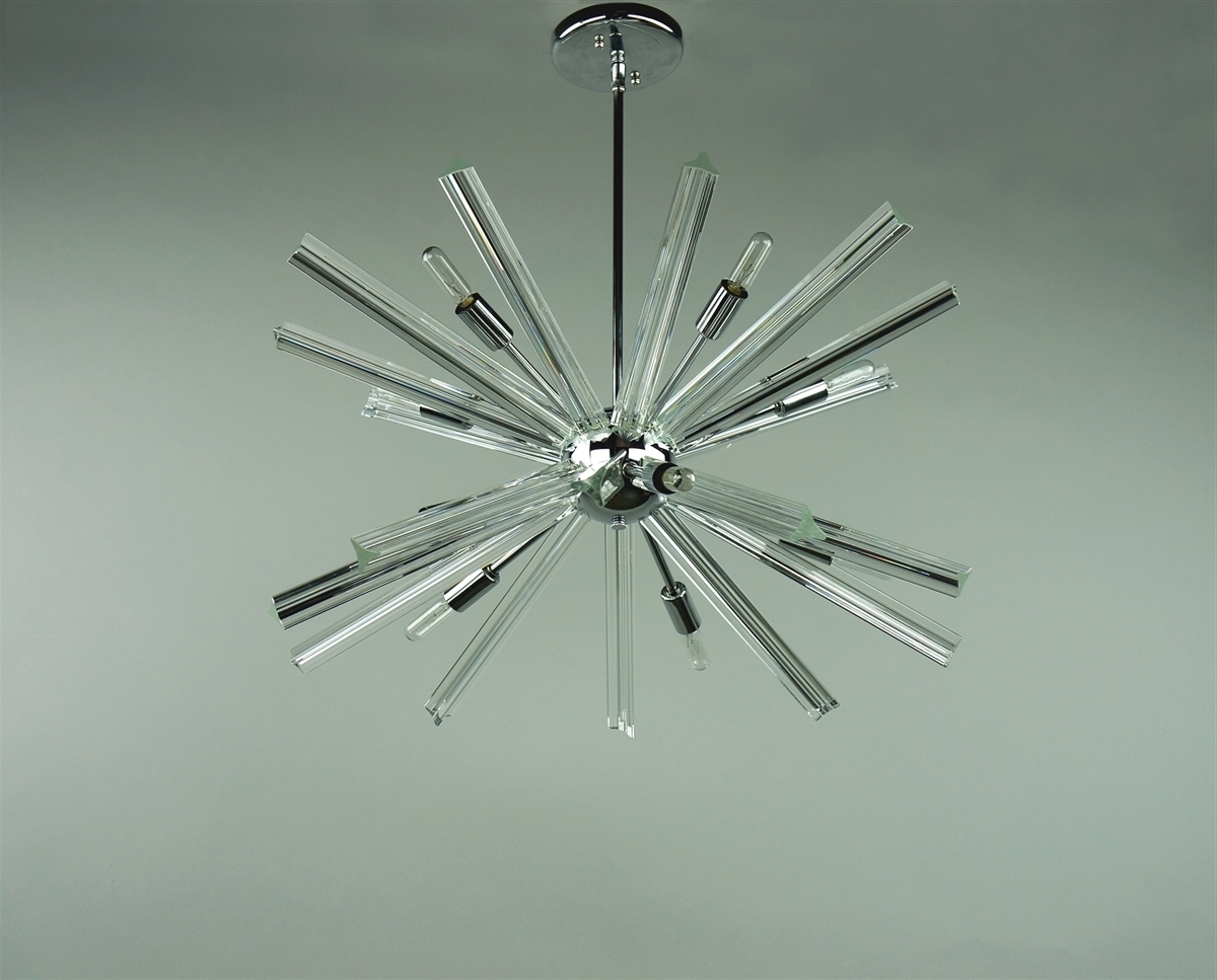 Sputnik Chandelier Chrome 27'' In Diameter With 20 Crystal Prisms With Regard To Widely Used Chrome Sputnik Chandeliers (View 3 of 15)