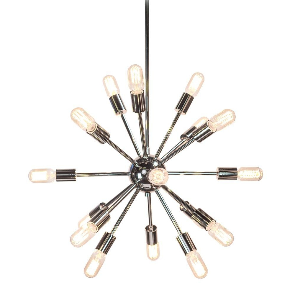 Sputnik – Chandeliers – Lighting – The Home Depot With Newest Chrome Sputnik Chandeliers (View 12 of 15)