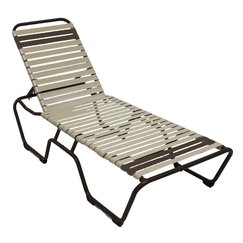 Stackable – Outdoor Chaise Lounges – Patio Chairs – The Home Depot Within Well Liked Commercial Grade Chaise Lounge Chairs (View 8 of 15)
