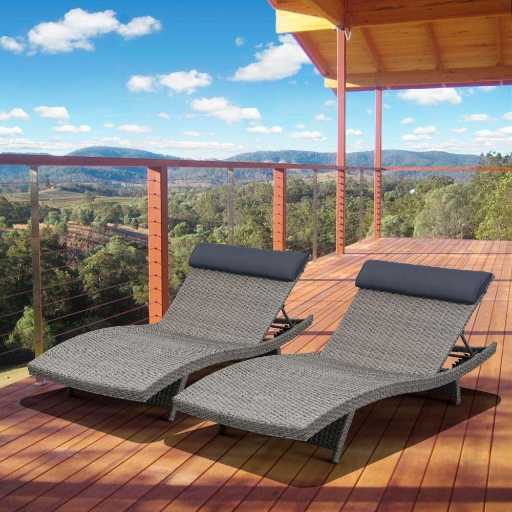 Stackable – Patio Chairs – Patio Furniture – The Home Depot Regarding Best And Newest Extra Wide Outdoor Chaise Lounge Chairs (View 9 of 15)