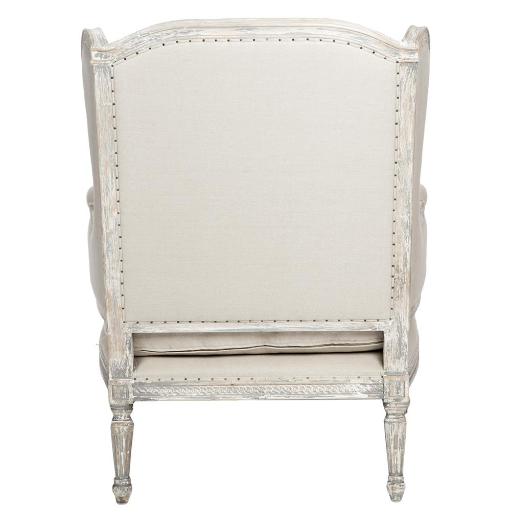 Stefania French Country Wing Back White Grey Chaise Lounge (View 15 of 15)