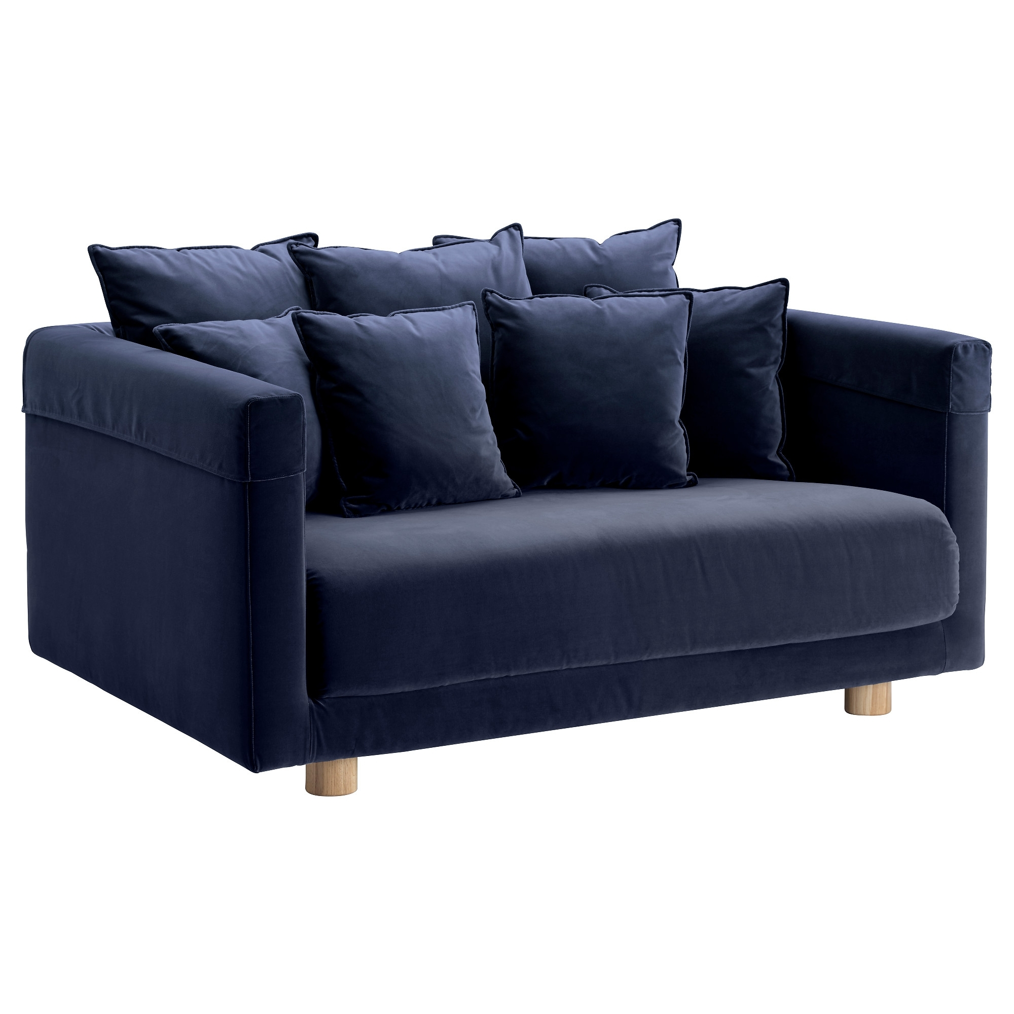 Stockholm 2017 Two Seat Sofa Sandbacka Dark Blue – Ikea Within Well Known Ikea Two Seater Sofas (View 11 of 15)