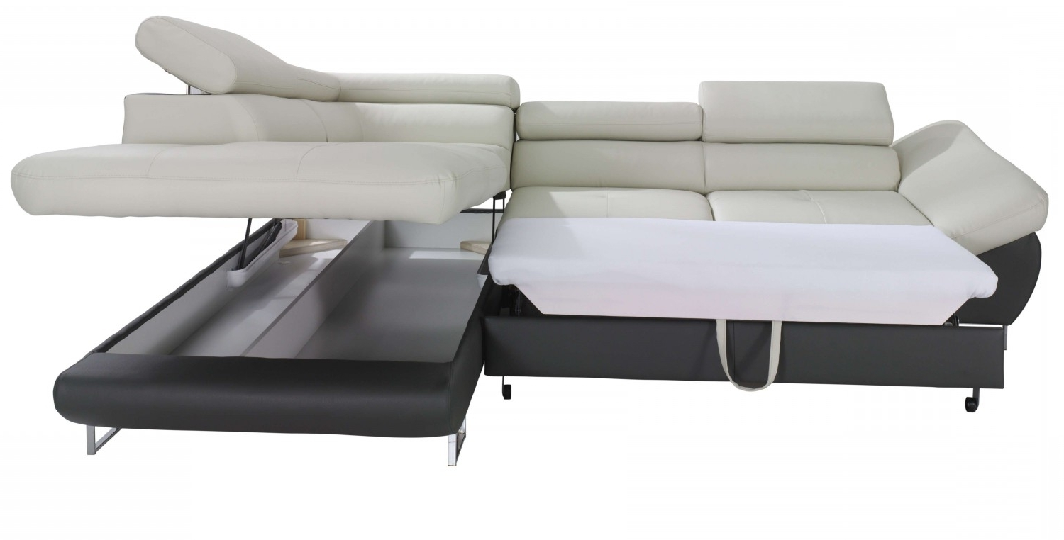 Storage Sofas Intended For Well Known Fabio Sectional Sofa Sleeper With Storage (View 13 of 15)