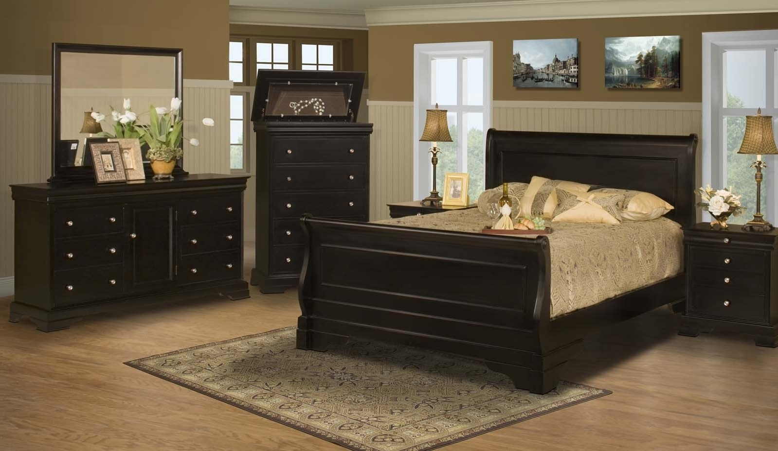 Stratford Sofas Within Popular Stratford Black Cherry Bedroom Furniture Collection For $ (View 12 of 15)