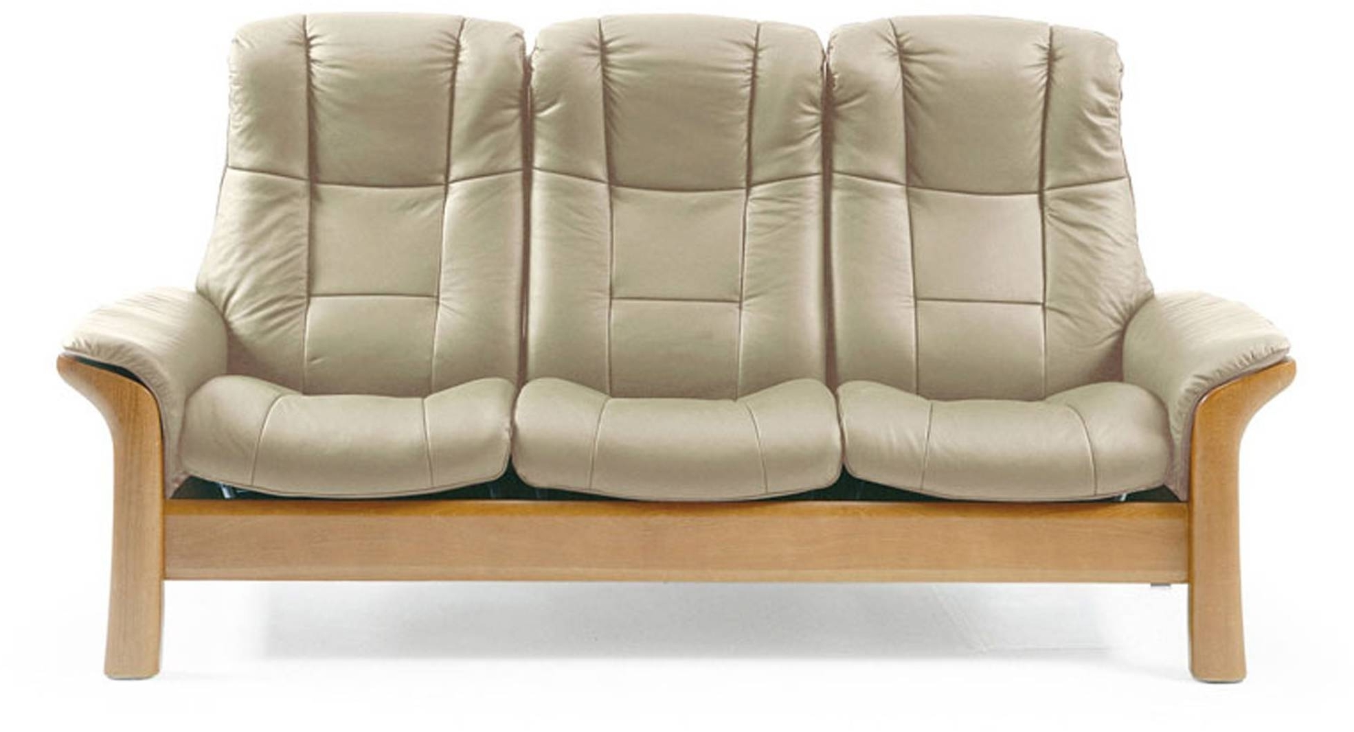 Stressless Windsor High Back 3 Seater Sofa – 3 Seater Sofas Intended For Well Liked Windsor Sofas (View 8 of 15)