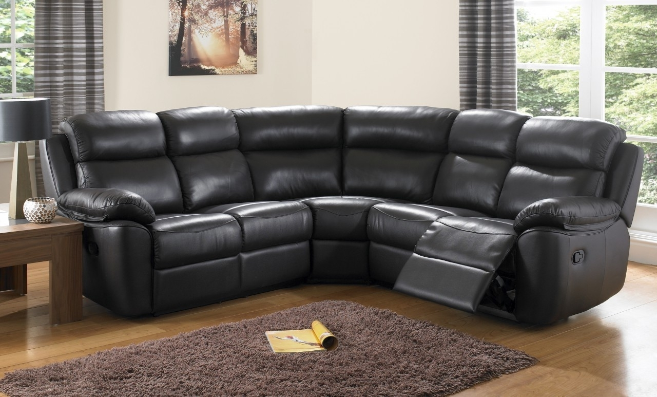 Stunning Black Leather Reclining Sectional Sofa Pictures In Well Liked Curved Sectional Sofas With Recliner (View 8 of 15)