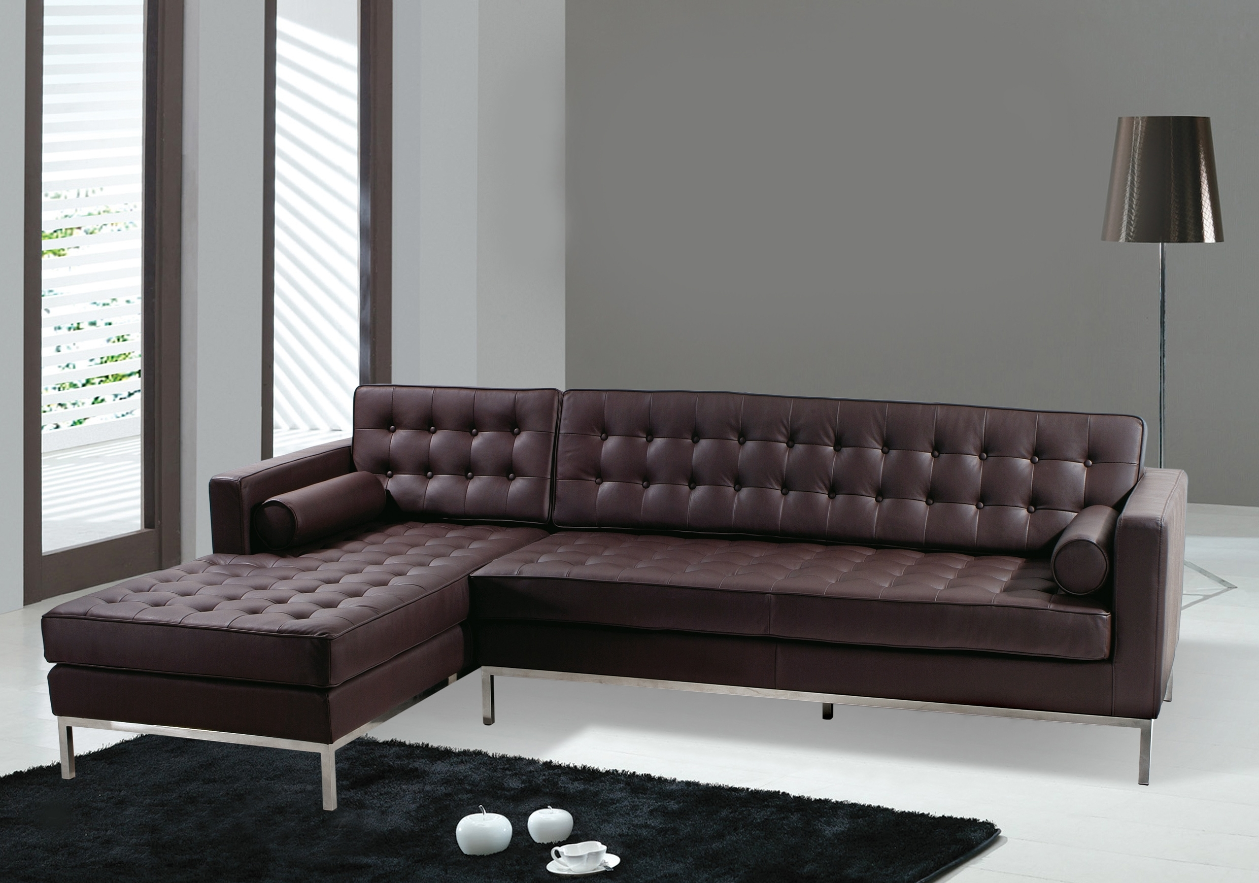 Stunning Brown Leather Sectional Sofa Clearance 39 For Your Pertaining To Latest Jcpenney Sectional Sofas (View 11 of 15)