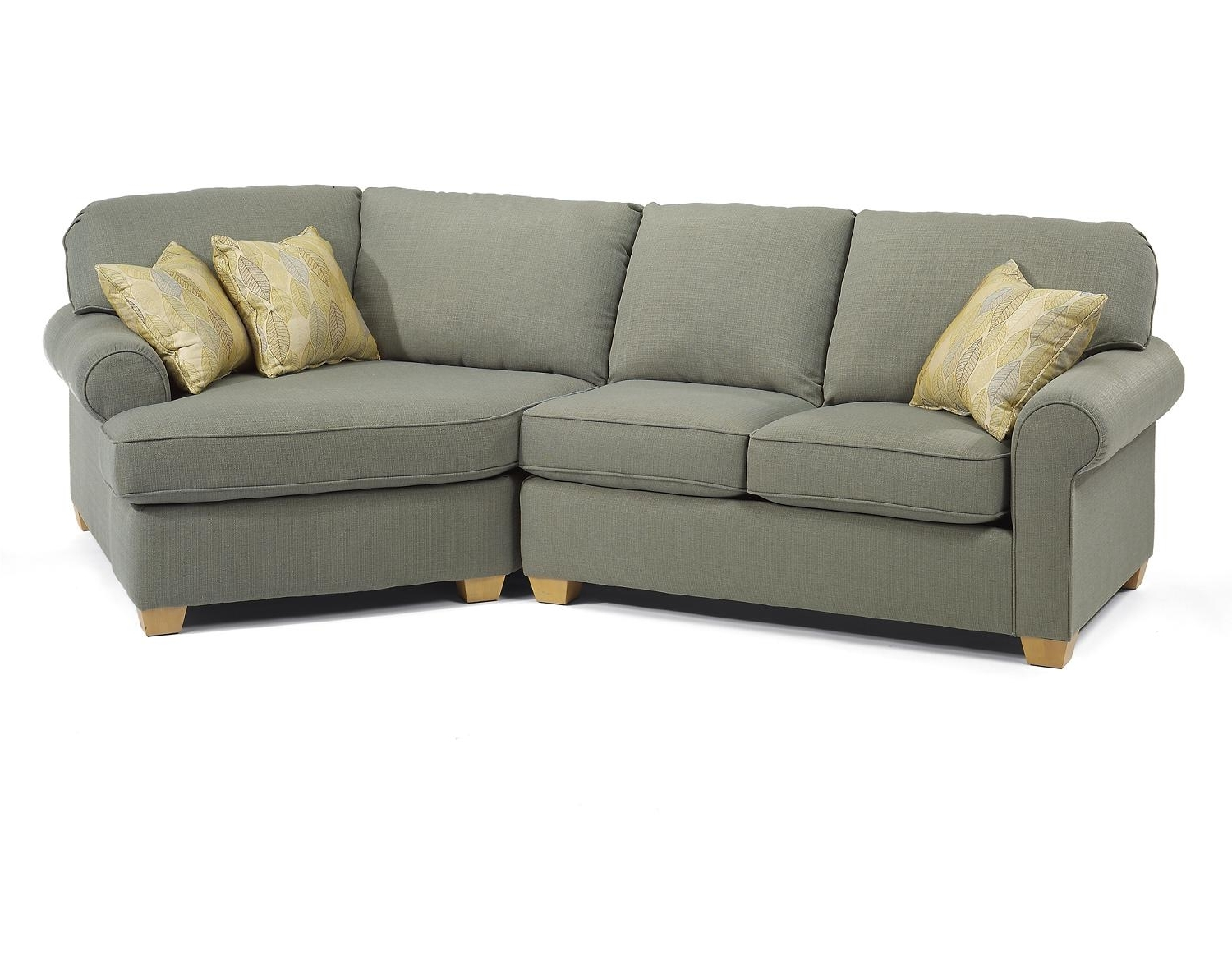 Stylish Small Sectional Sofa With Chaise — Fabrizio Design Within Well Known Small Sectional Sofas With Chaise (View 8 of 15)