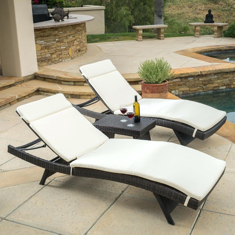 Sunbrella Chaise Lounge Cushion Cushions 77 X 25 Beige Pertaining To Well Known Sunbrella Chaise Lounge Cushions (View 9 of 15)