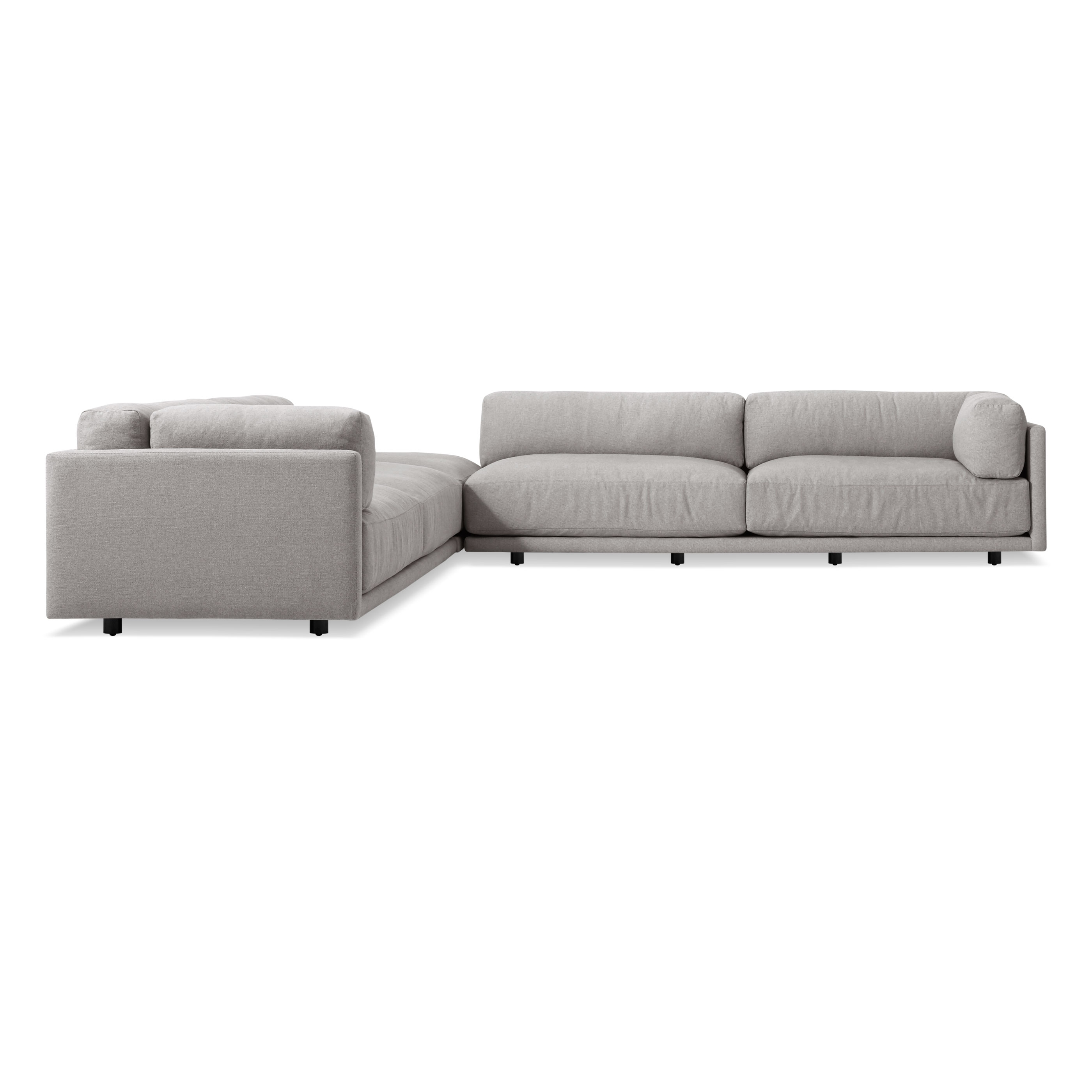 Sunday Backless L Sectional (View 8 of 15)