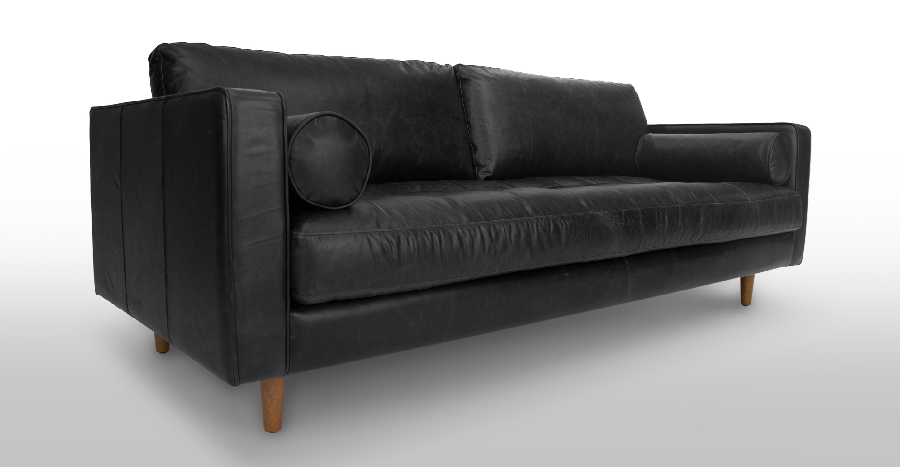 Sven Oxford Black Sofa (View 11 of 15)