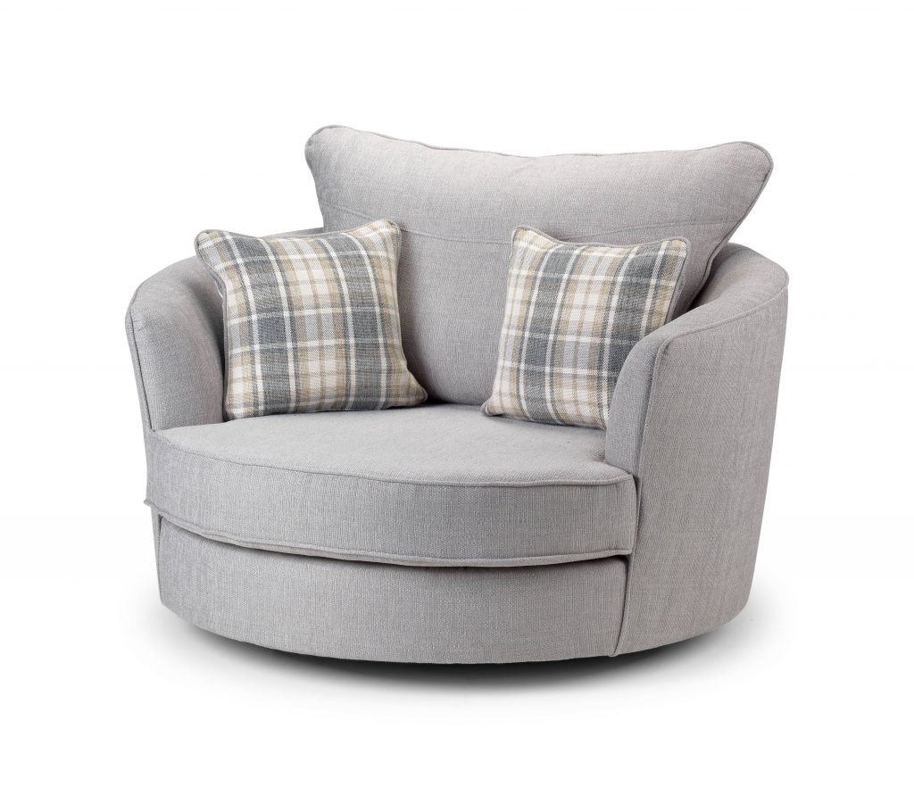 Swivel Sofa Chairs Inside Most Up To Date Armchair : Round Swivel Couch Cuddler Swivel Sofa Chair Round Sofa (View 8 of 15)
