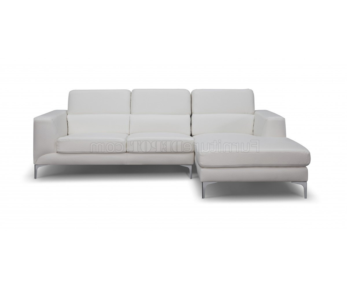 Sydney Sectional Sofas Within Well Known Sydney Sectional Sofa In White Faux Leatherwhiteline (View 2 of 15)