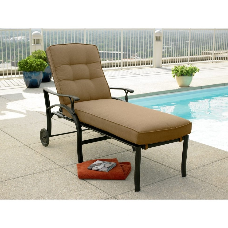 Target Chaise Lounge Cushions Inside Best And Newest Outdoor : Chaise Lounge Cushions Amazon Target Chaise Lounge Lowes (View 10 of 15)